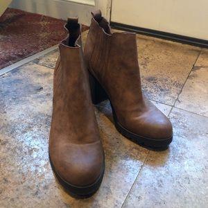 Sam & Libby Shoes - Block heel booties